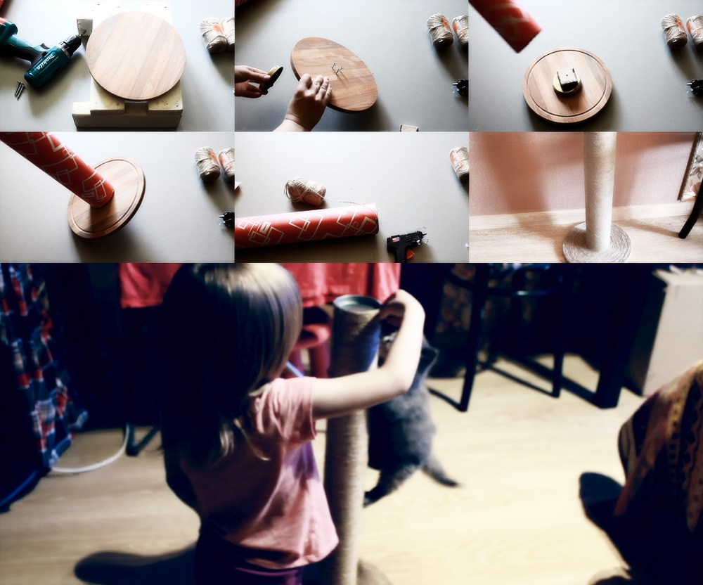 Когтеточка своими руками: пошаговая инструкция